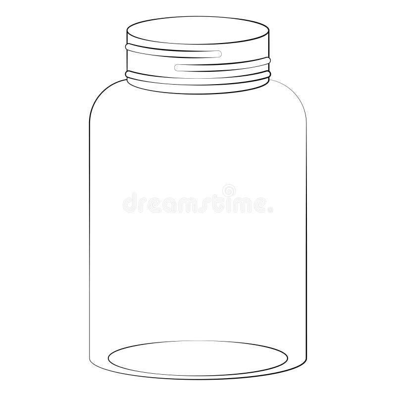 Ilustração do frasco de pedreiro ilustração do vetor