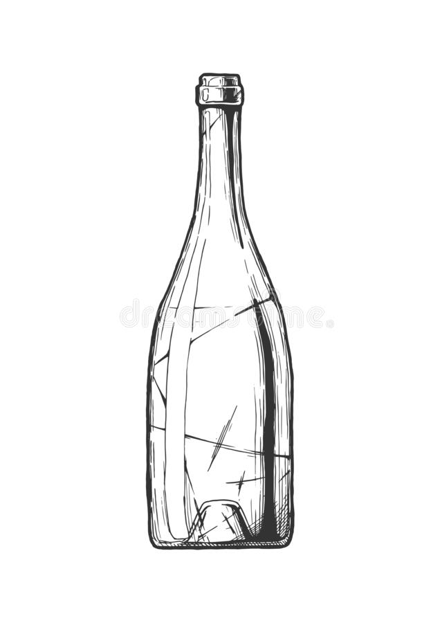 Ilustração do frasco de vinho ilustração do vetor