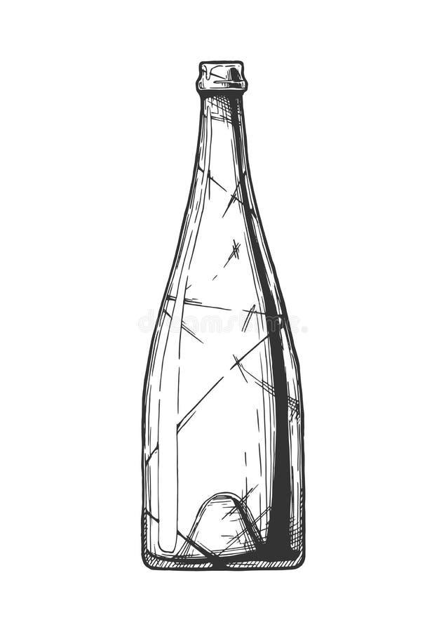 Ilustração do frasco de vinho ilustração royalty free