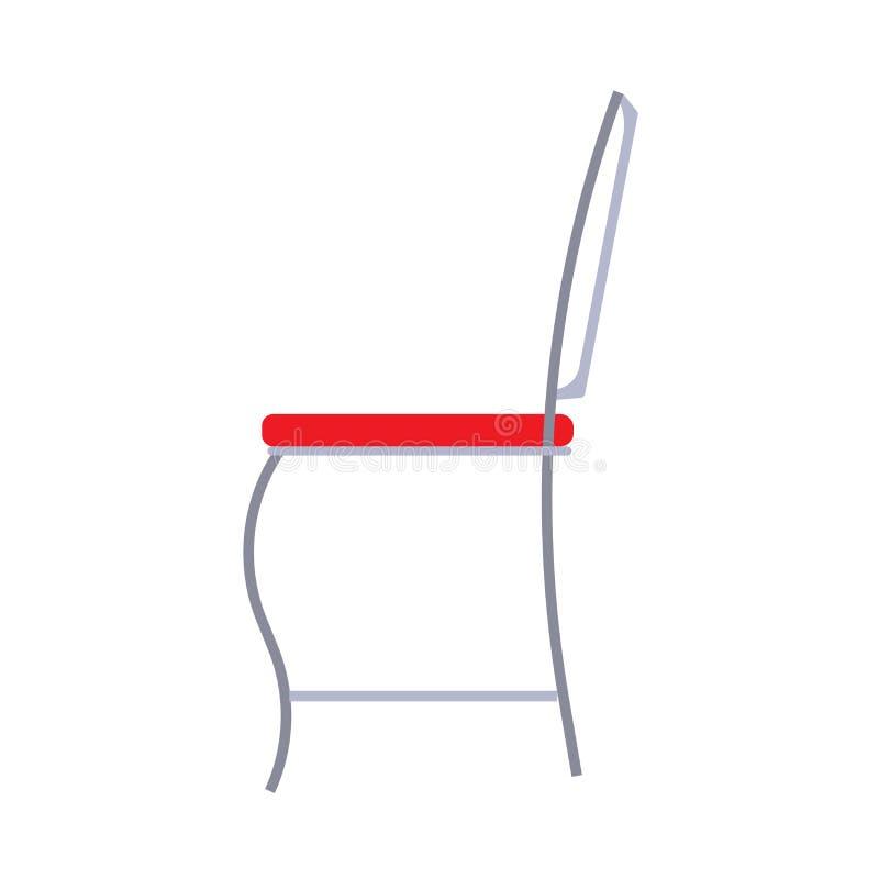A ilustração do fruniture do ícone do vetor da opinião lateral da cadeira isolou branco Símbolo interior do escritório do assento ilustração do vetor