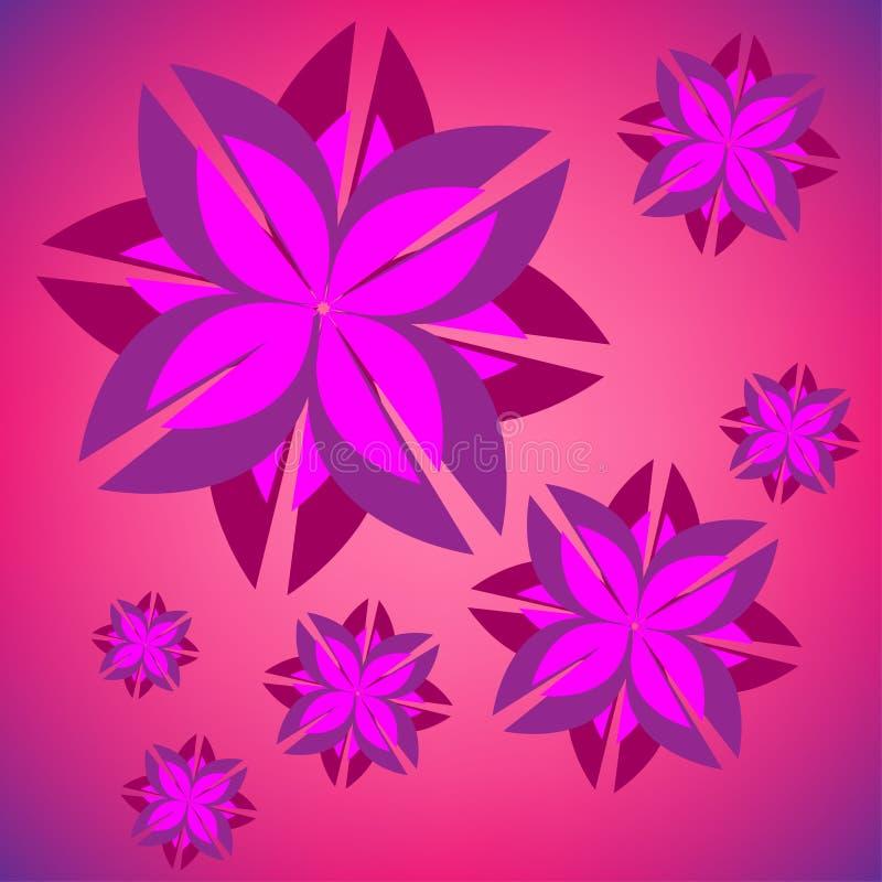 Ilustração do fundo com flores roxas fotografia de stock