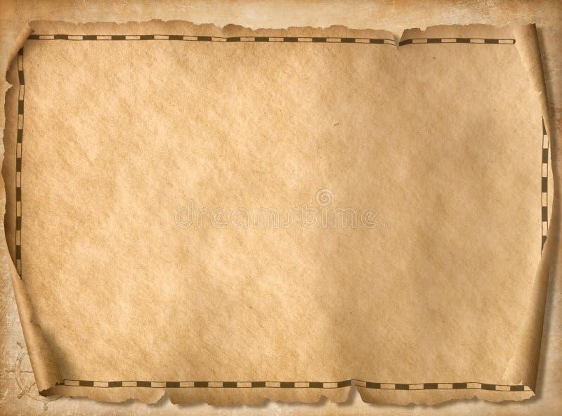 Ilustração do fundo 3d do mapa do tesouro dos piratas ilustração stock