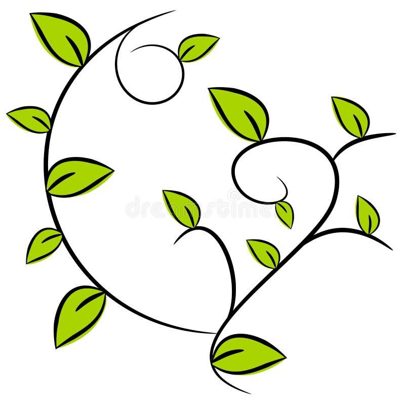 Ilustração do fundo da árvore ilustração royalty free