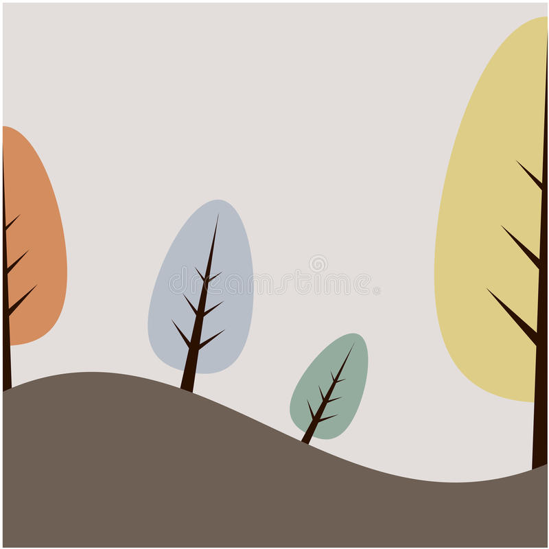 Ilustração do fundo da árvore ilustração stock