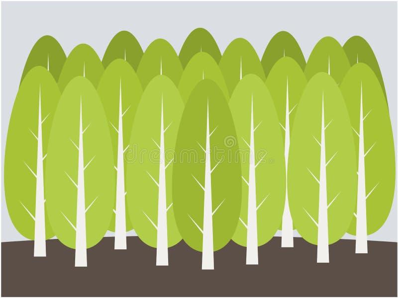 Ilustração do fundo da árvore ilustração do vetor
