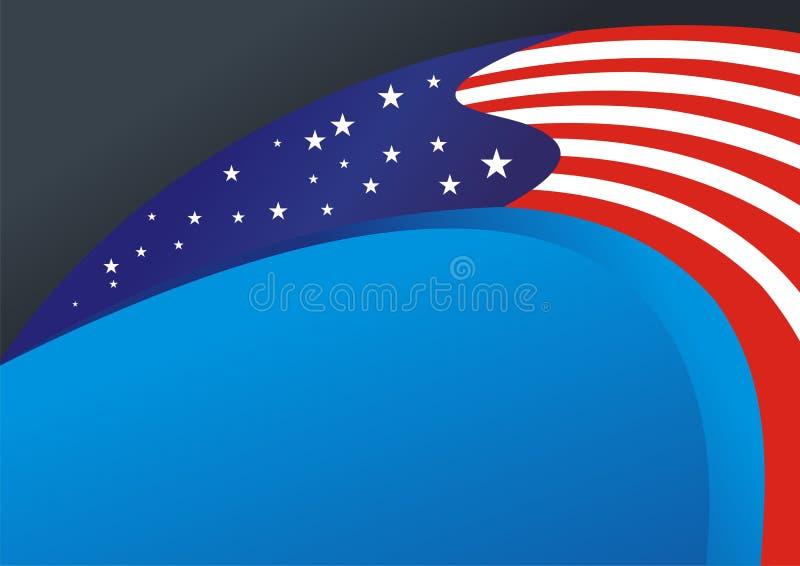Ilustração do fundo da bandeira americana ilustração do vetor