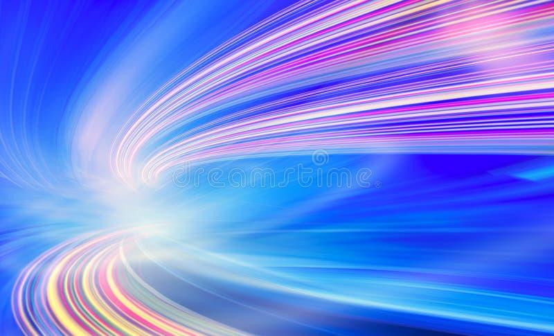 Ilustração do fundo da tecnologia, velocidade abstrata ilustração royalty free