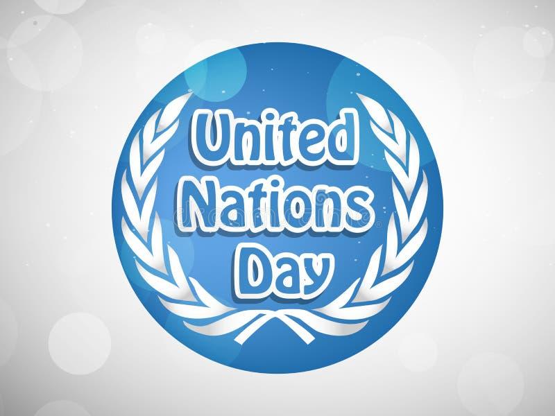 Ilustração do fundo do dia de United Nations ilustração stock