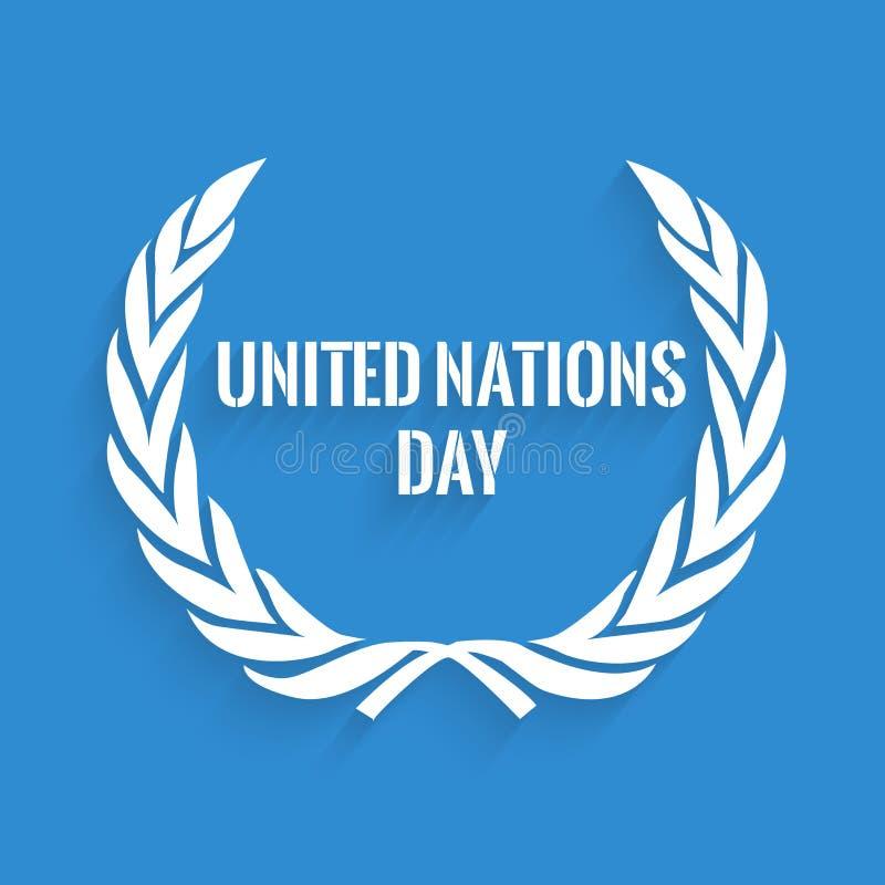 Ilustração do fundo do dia de United Nations ilustração do vetor