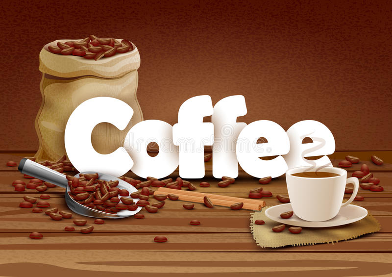 Ilustração do fundo do alimento do papel de parede do café ilustração royalty free