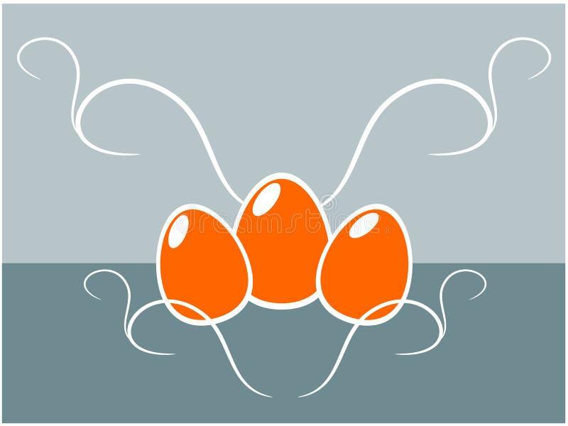 Ilustração do fundo do ovo da páscoa ilustração do vetor