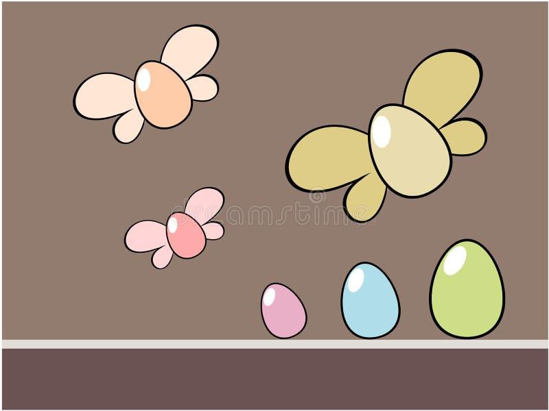 Ilustração do fundo do ovo da páscoa ilustração stock