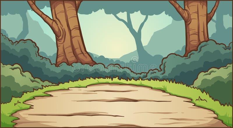 Ilustração do fundo do esclarecimento da floresta ilustração royalty free