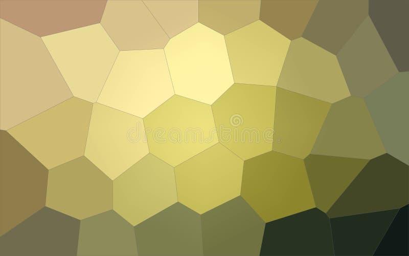 Ilustração do fundo gigante amarelo, vermelho e preto do hexágono ilustração royalty free