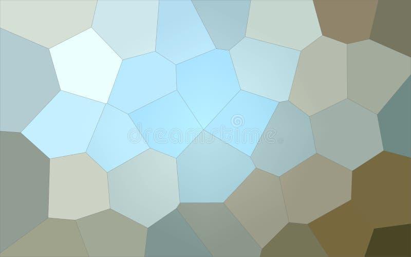 Ilustração do fundo gigante azul, cinzento e marrom do hexágono ilustração do vetor