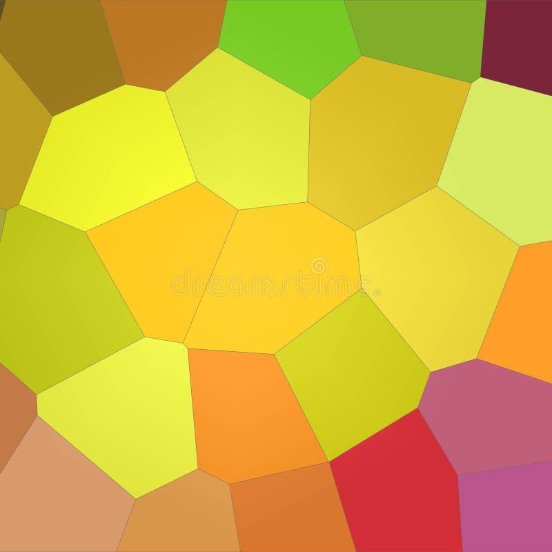 Ilustração do fundo gigante brilhante amarelo e roxo quadrado do limão - do hexágono ilustração stock