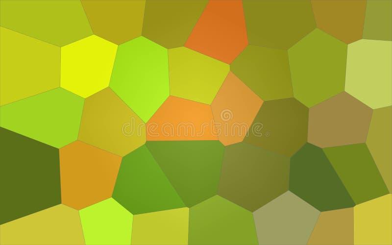 Ilustração do fundo gigante brilhante amarelo e verde do limão - do hexágono ilustração royalty free