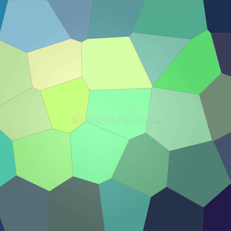 Ilustração do fundo gigante brilhante azul, verde e amarelo quadrado do hexágono ilustração royalty free