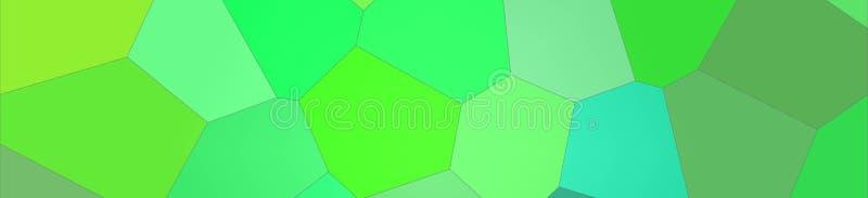 Ilustração do fundo gigante brilhante verde e marrom da bandeira do hexágono ilustração stock