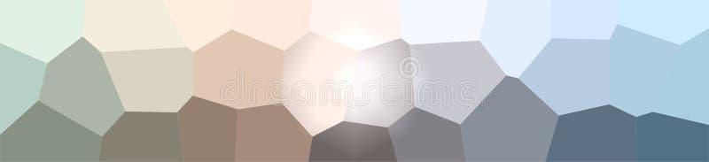 Ilustração do fundo gigante cinzento e marrom da bandeira do hexágono ilustração stock