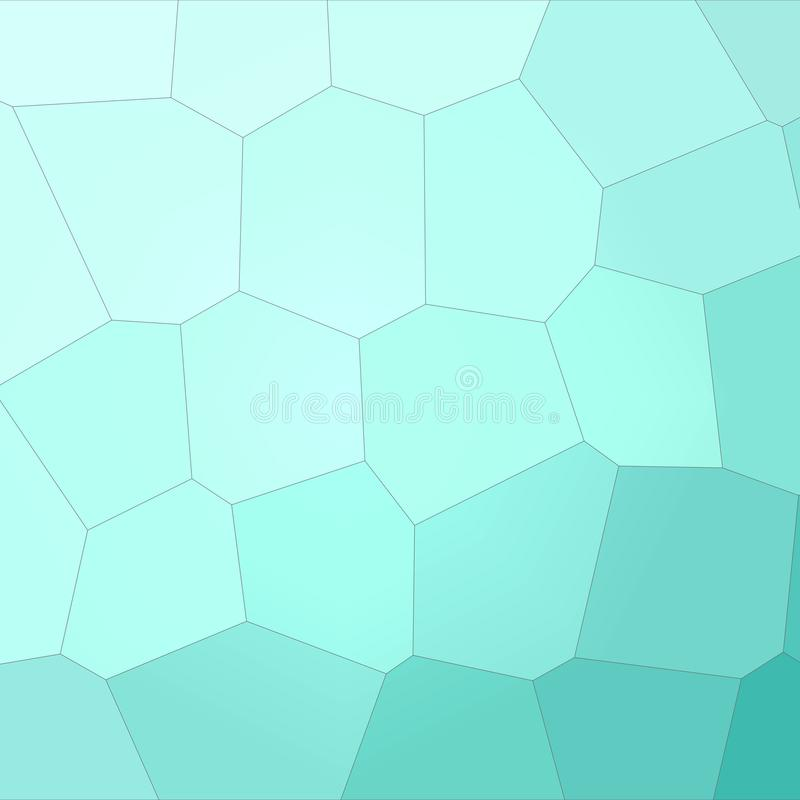 Ilustração do fundo gigante do hexágono do polígono quadrado do aqua ilustração royalty free
