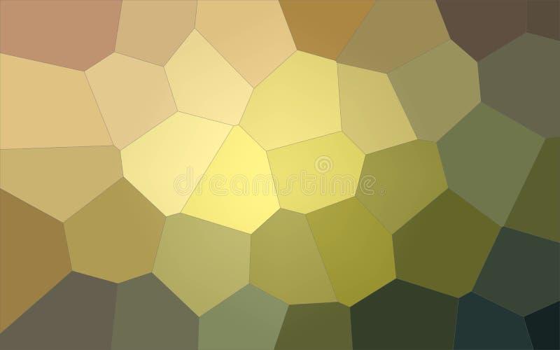 Ilustração do fundo gigante pastel amarelo, vermelho e preto do hexágono ilustração royalty free