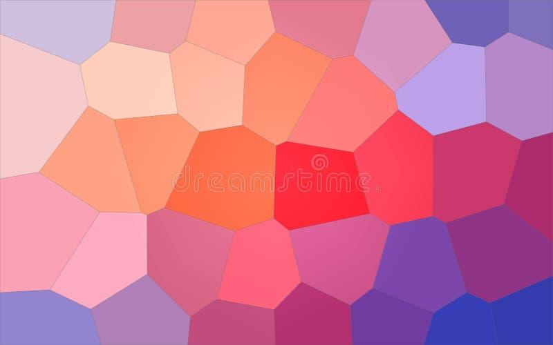 Ilustração do fundo gigante pastel azul, roxo, vermelho e amarelo do hexágono ilustração do vetor