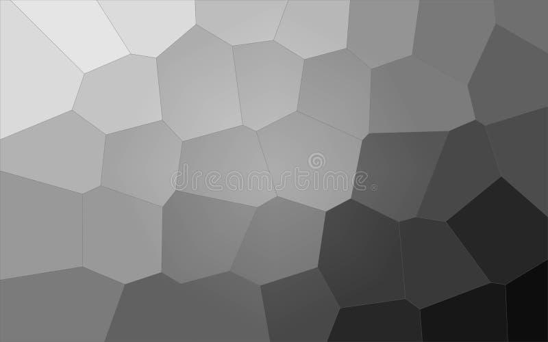 Ilustração do fundo gigante pastel cinzento do hexágono ilustração do vetor