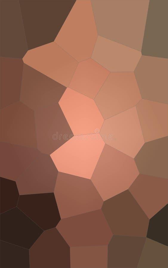 Ilustração do fundo gigante pastel marrom e vermelho vertical do hexágono ilustração stock