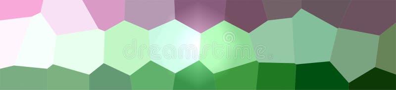 Ilustração do fundo gigante verde e vermelho do hexágono, bandeira abstrata ilustração stock