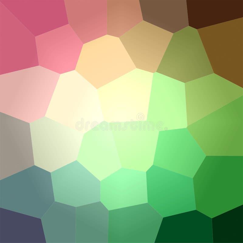 Ilustração do fundo gigante verde e vermelho do quadrado do hexágono ilustração stock