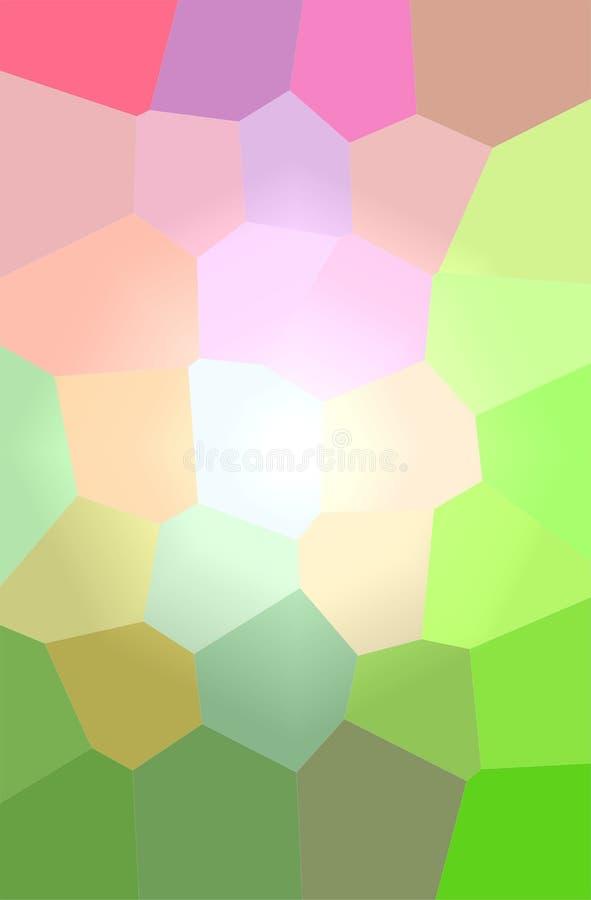Ilustração do fundo gigante do verde, o roxo e o vermelho do hexágono do vertical ilustração royalty free