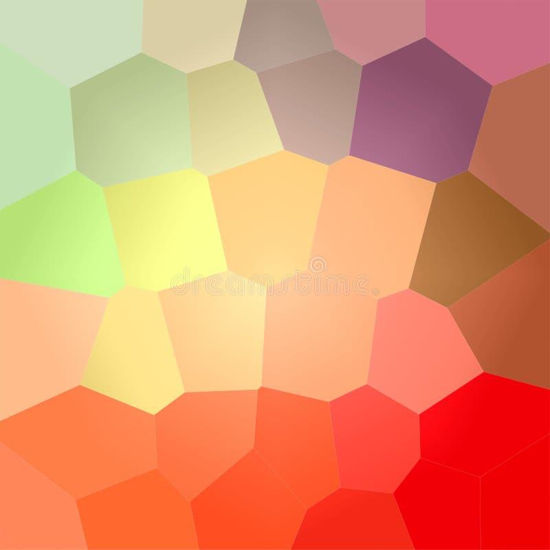 Ilustração do fundo gigante do vermelho, o verde e o azul do hexágono do quadrado ilustração do vetor