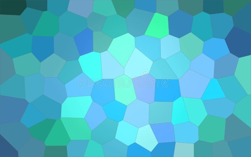 Ilustração do fundo grande brilhante do hexágono do aqua ilustração stock