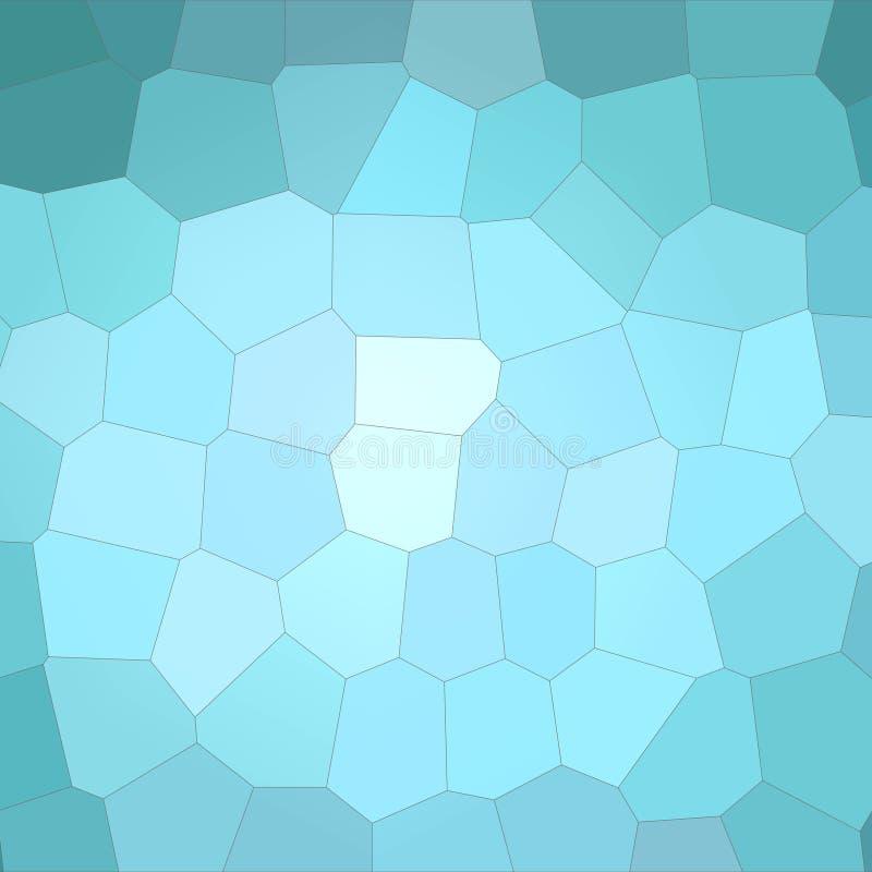 Ilustração do fundo grande colorido do hexágono do aqua quadrado ilustração do vetor