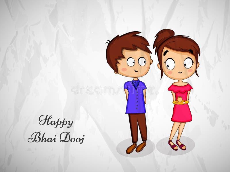 ilustração do fundo hindu de Bhai Dooj do festival ilustração do vetor