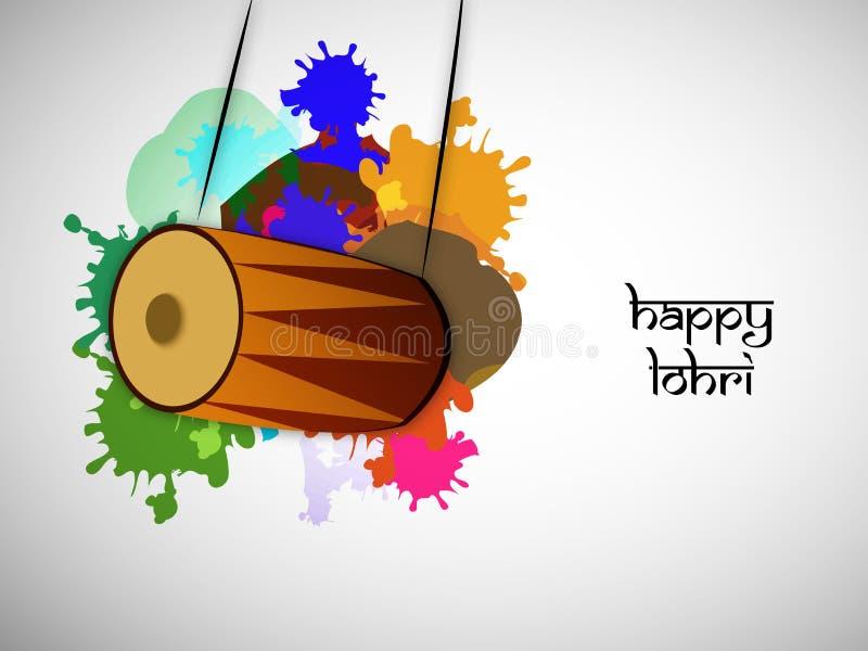 Ilustração do fundo hindu de Lohri do festival ilustração royalty free