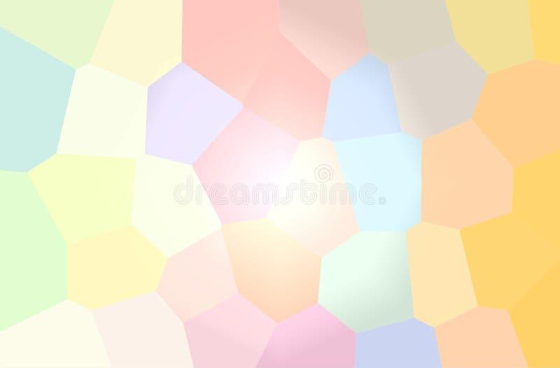 Ilustração do fundo horizontal do hexágono gigante cremoso ilustração do vetor