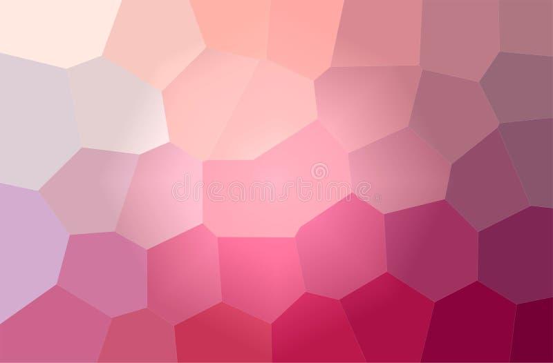 Ilustração do fundo horizontal do hexágono gigante magenta ilustração do vetor