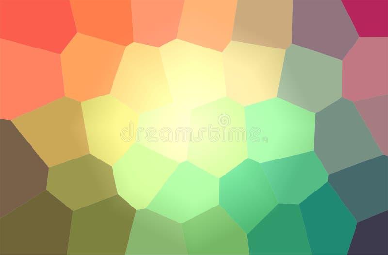 Ilustração do fundo horizontal do hexágono gigante verde, amarelo, azul e verde ilustração royalty free