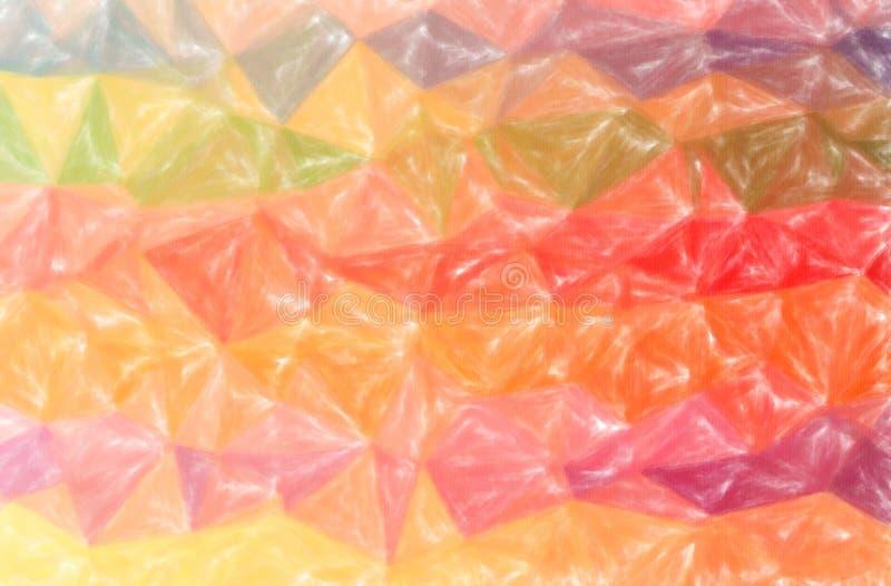 Ilustração do fundo horizontal pastel amarelo, azul, da laranja, a vermelha e a verde baixa da cobertura ilustração stock