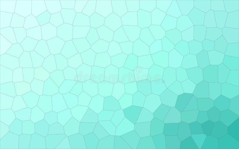 Ilustração do fundo médio pastel do hexágono do tamanho do aqua ilustração stock