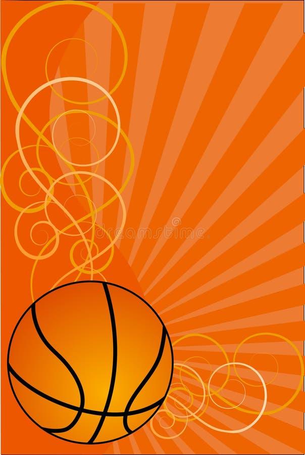 Ilustração do fundo-vetor do basquetebol ilustração do vetor