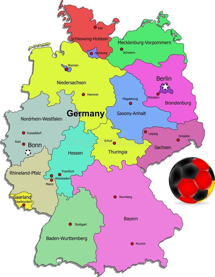 Ilustração do futebol de Alemanha ilustração royalty free