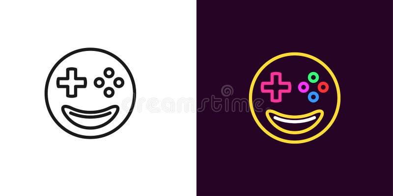 Ilustração do gamer de Emoji Jogador do emoji do vetor ilustração do vetor