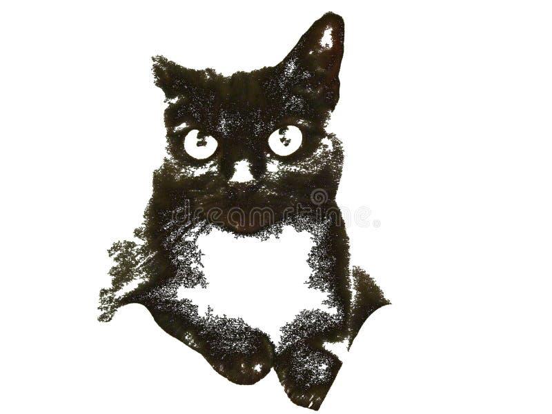 Ilustração do gato preto imagem de stock royalty free