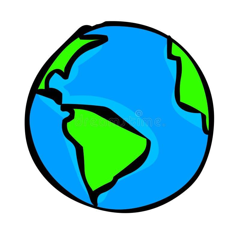 Ilustração do globo ilustração royalty free