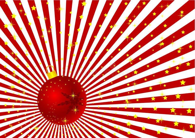 Ilustração do globo do Natal de Grunge ilustração do vetor