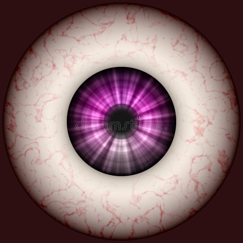 Ilustração do globo ocular ilustração do vetor