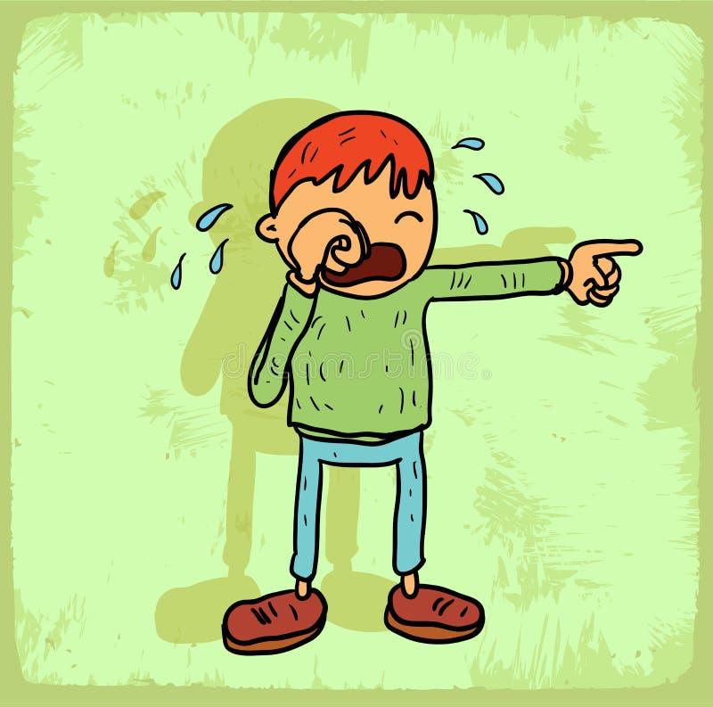 Ilustração do grito dos desenhos animados, ícone do vetor ilustração stock